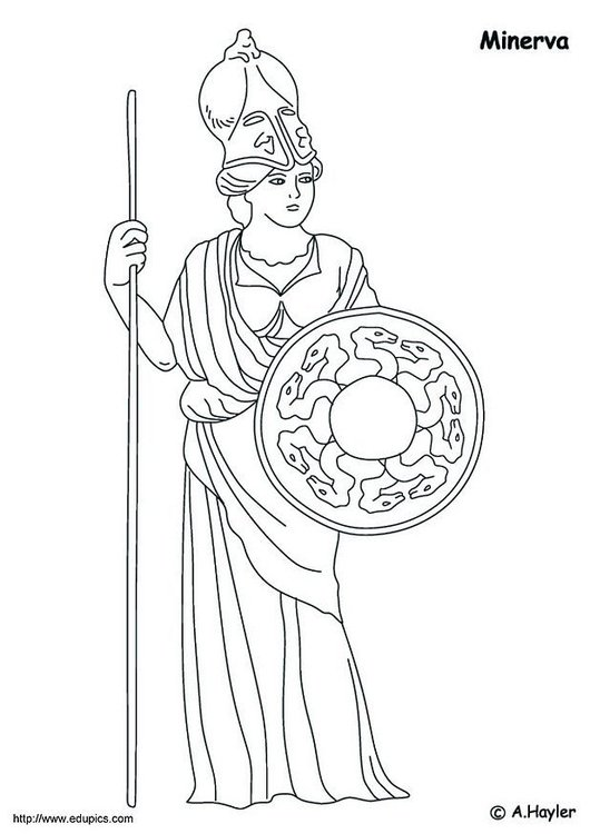 Coloring page Minerva