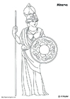 Coloring pages Minerva