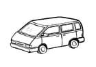 Coloring page minivan