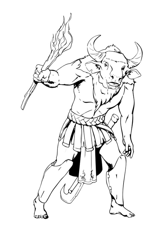 coloring page minotaur free printable coloring pages