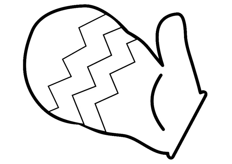 Coloring page mitten
