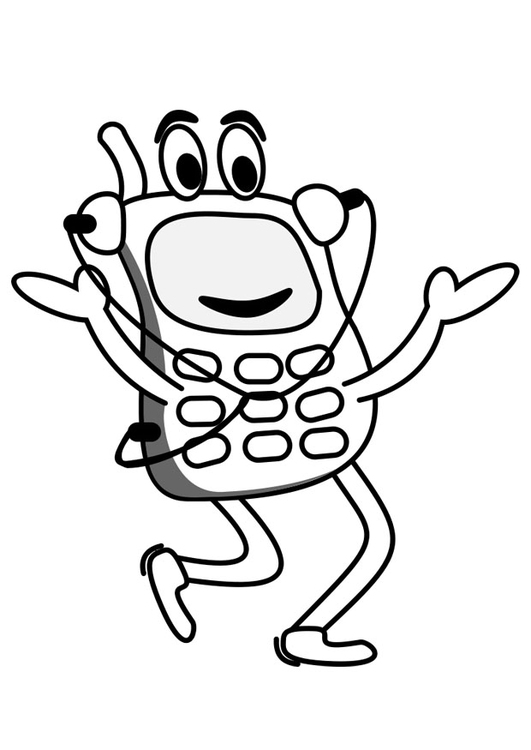 Coloring page mobile phone