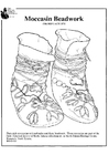 Coloring pages moccasin beadwork