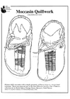 Coloring pages moccasin quillwork