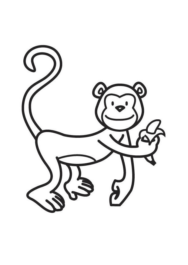 Coloring page monkey - img 17524.