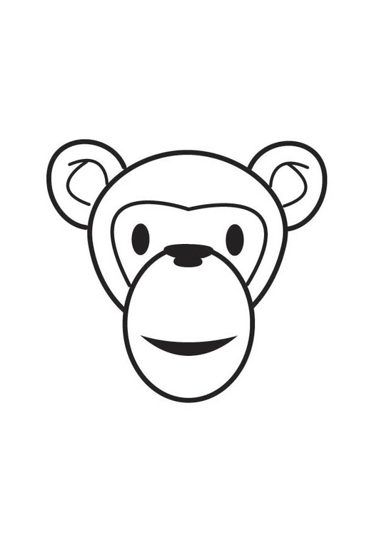 Coloring page Monkey Head