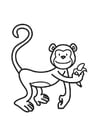 Coloring page monkey