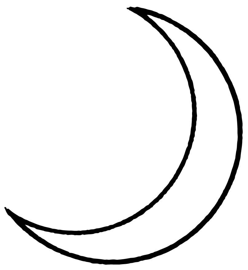 Coloring page Moon img 15709