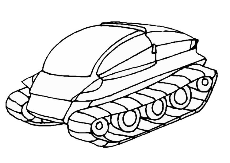 Coloring page moon vehicle