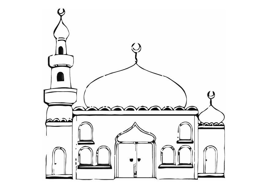 Free Printable Colouring Of A Mosque Infocap Ltd