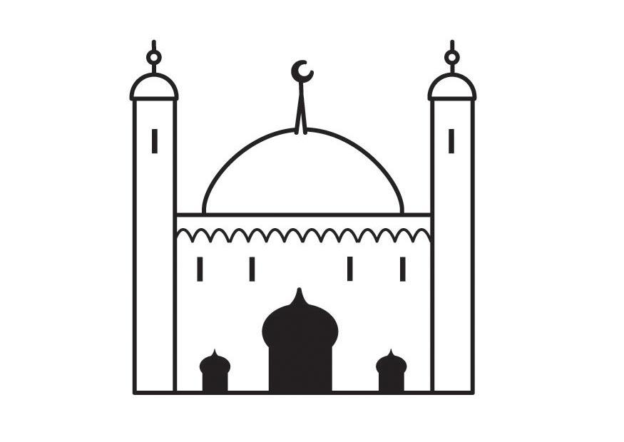 Coloring Page Mosque Free Printable Coloring Pages