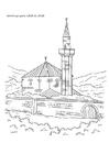 Coloring pages mosque