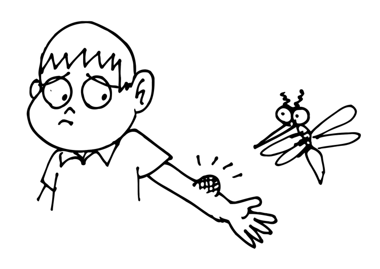 Coloring page mosquito bite