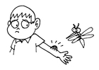 Coloring pages mosquito bite