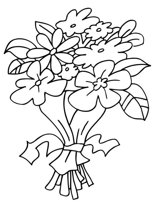 Coloring page Mother´s Day Flowers