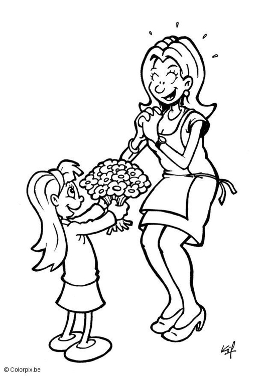Coloring page Mother´s Day present