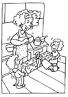 Coloring page Mothers' Day