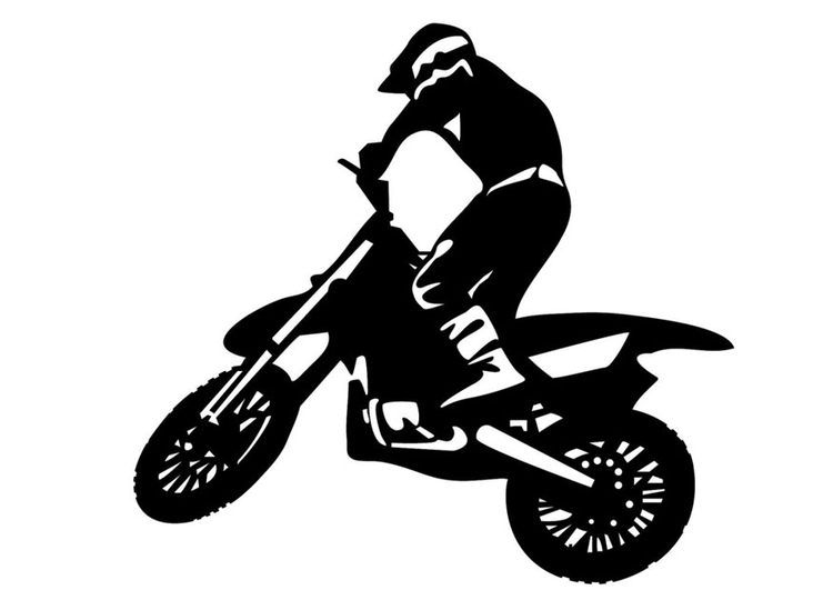 Coloring page motocross