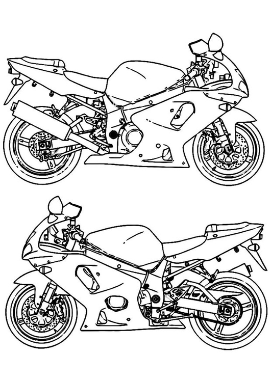 Coloring page Motorbike