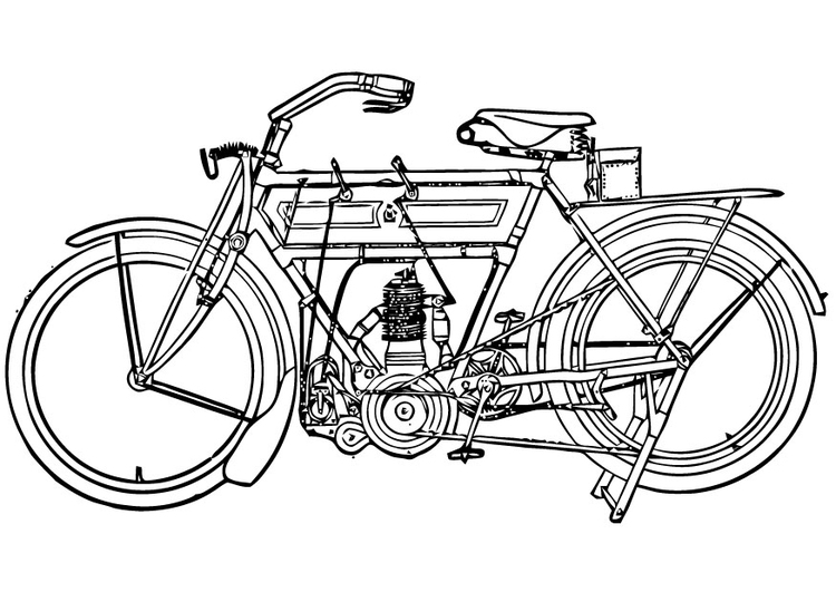 Coloring page Motorcycle