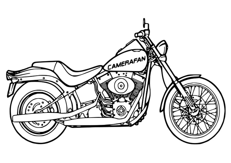 coloring page motorcycle - Coloring Page Motorcycle