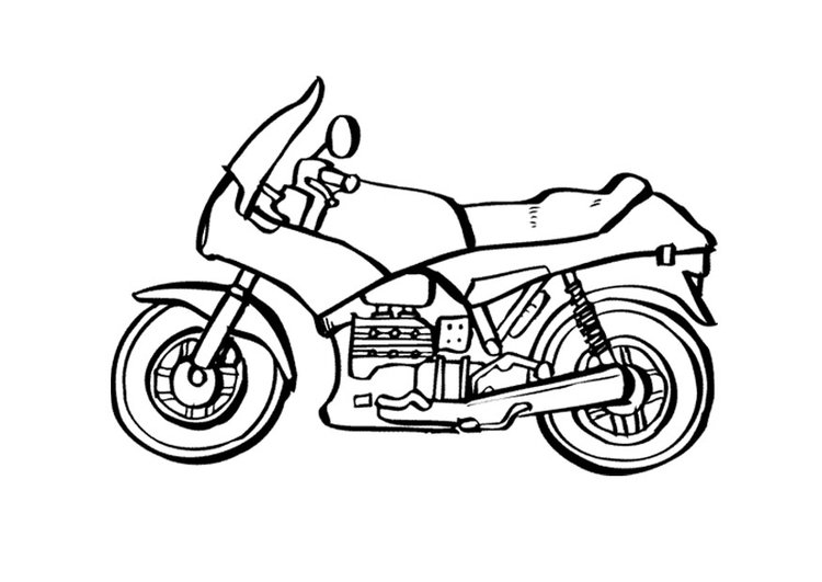 - Coloring Page Motorcycle - Free Printable Coloring Pages