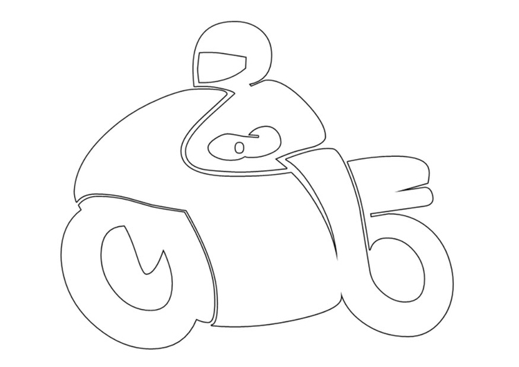 Coloring page motorcyclist