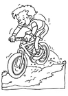 Coloring page mountain biking