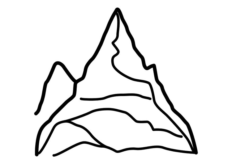Coloring page mountain
