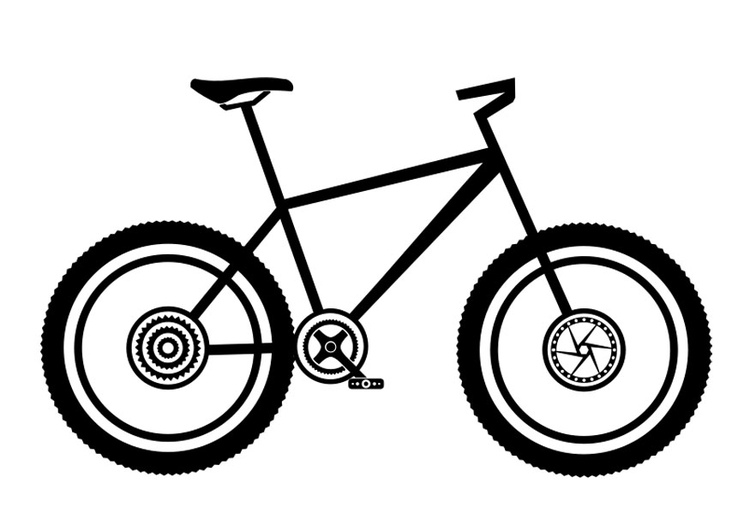 Coloring page mountainbike