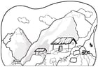Coloring page mountains