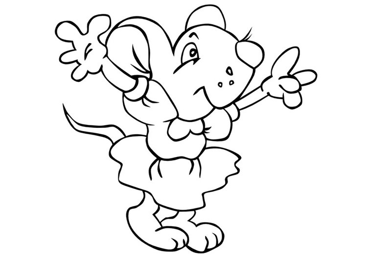 Coloring page mouse