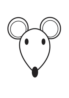 Coloring page Mouse Head