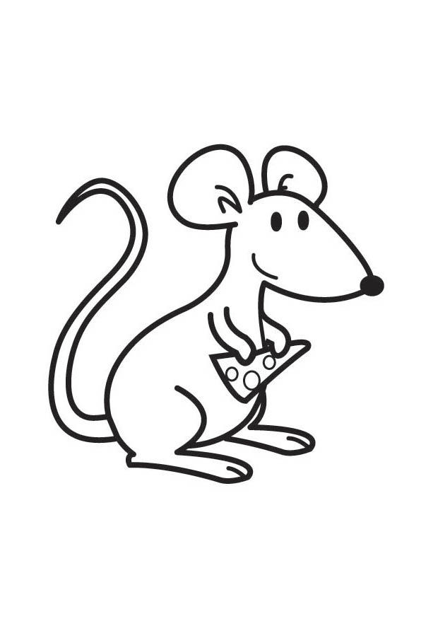 Coloring Page Mouse With Cheese Free Printable Coloring