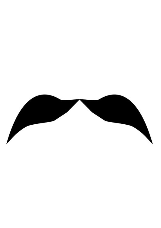 Coloring page moustache - img 27211.