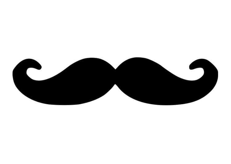coloring page moustache - Mustache Coloring Pages