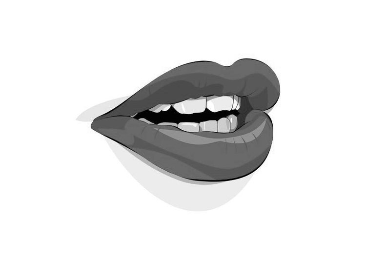 Coloring page mouth