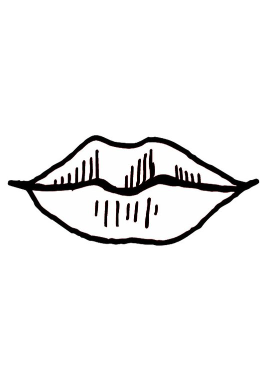 Coloring page mouth- lips