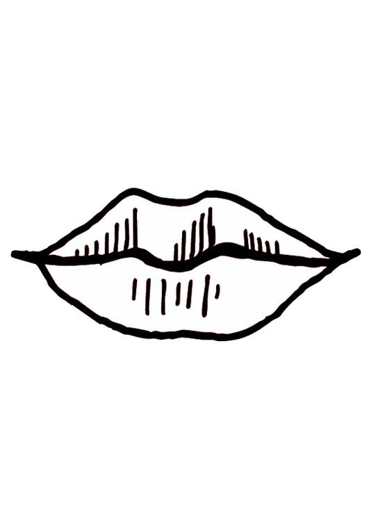 Coloring Page Mouth Lips
