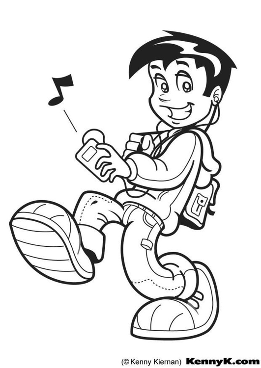 Coloring page mp3