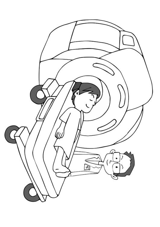 coloring page mri scanner