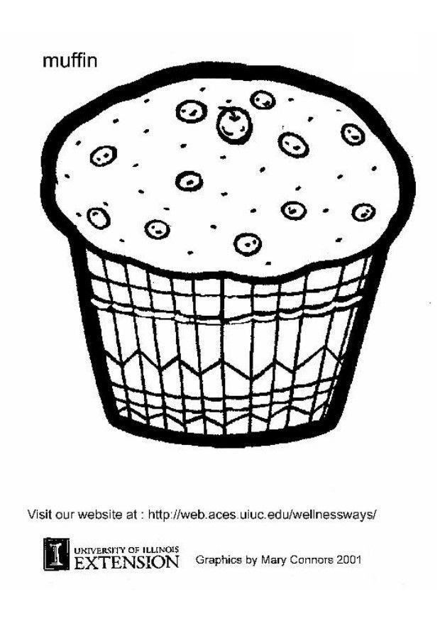 Coloring page muffin - img 5867.