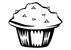 Coloring pages muffin