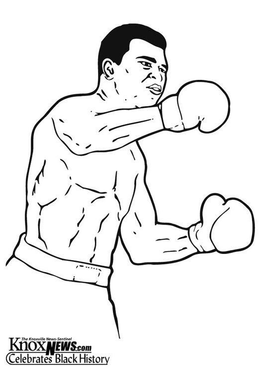 Coloring page Muhammad Ali
