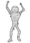 Coloring page mummy