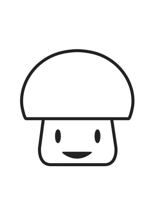 Coloring page Mushroom character