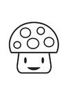 Coloring pages Mushroom character