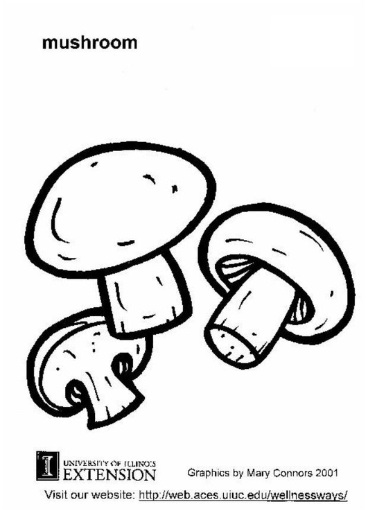 Coloring page mushroom