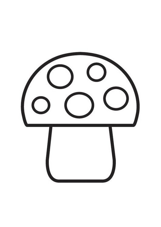 Coloring page Mushroom with spots