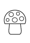 Coloring pages Mushroom with spots